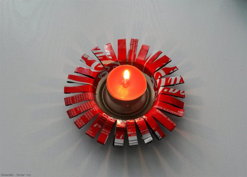 עיצוב פמוט לנר מפחית אלומיניום בשימוש חוזר - ECO ART