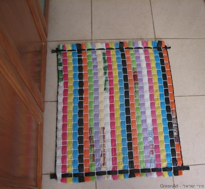 מחצלת משקיות ניילון בשימוש חוזר