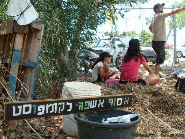שילוט מפסולת מגנטים ועץ לגן האקולוגי של אוניברסיטת תל אביב