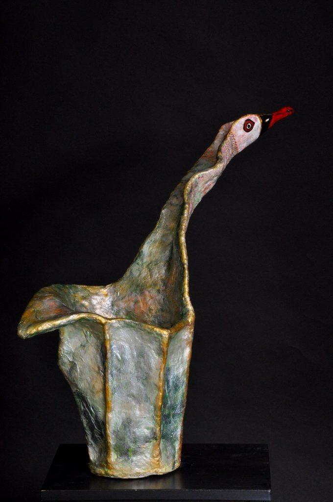 האווז הירוק - פיסול ברשת ועיסת נייר