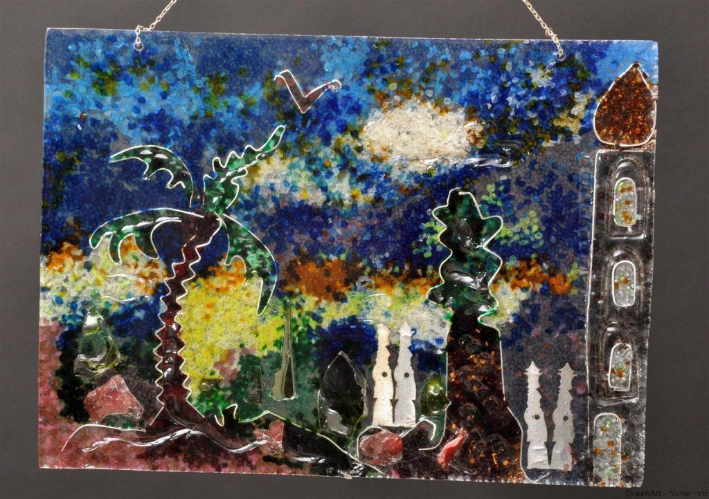 נוף ארץ ישראל מיציקות וחומרים ממוחזרים