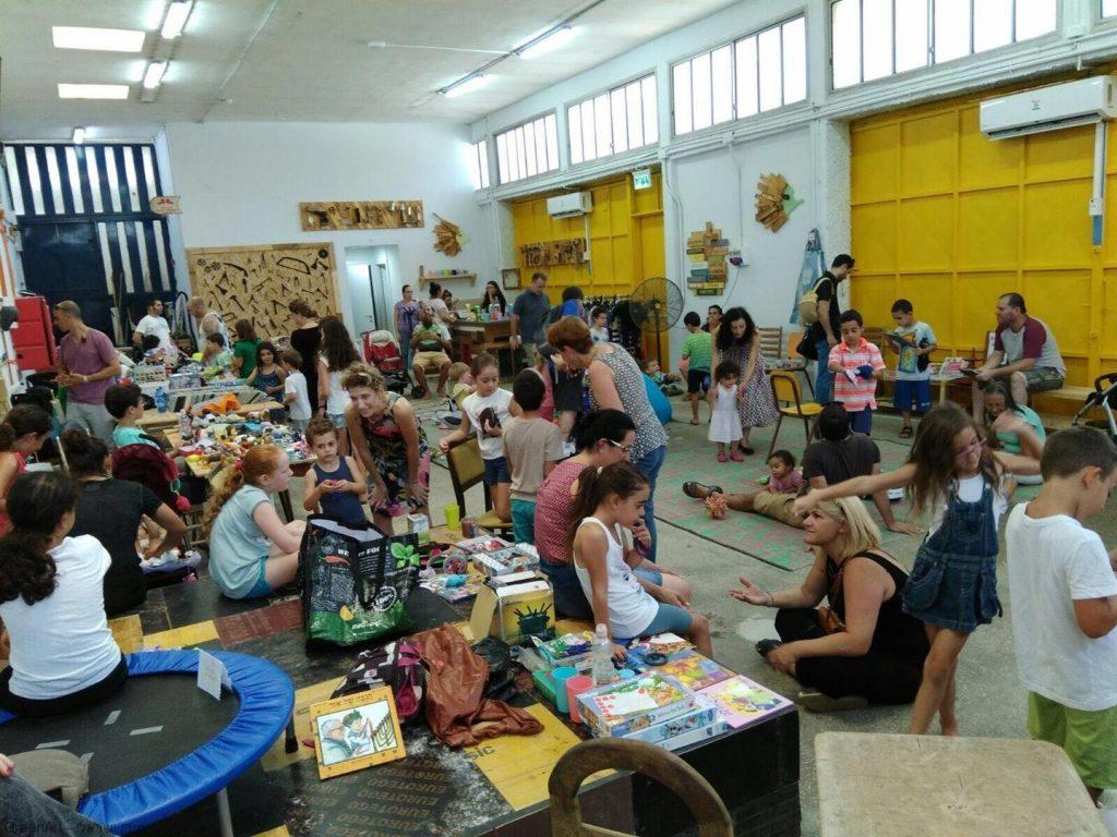 פעילות עם הקהילה במרכז המיחזור והקיימות החדש -קיפוד- בכפר סבא