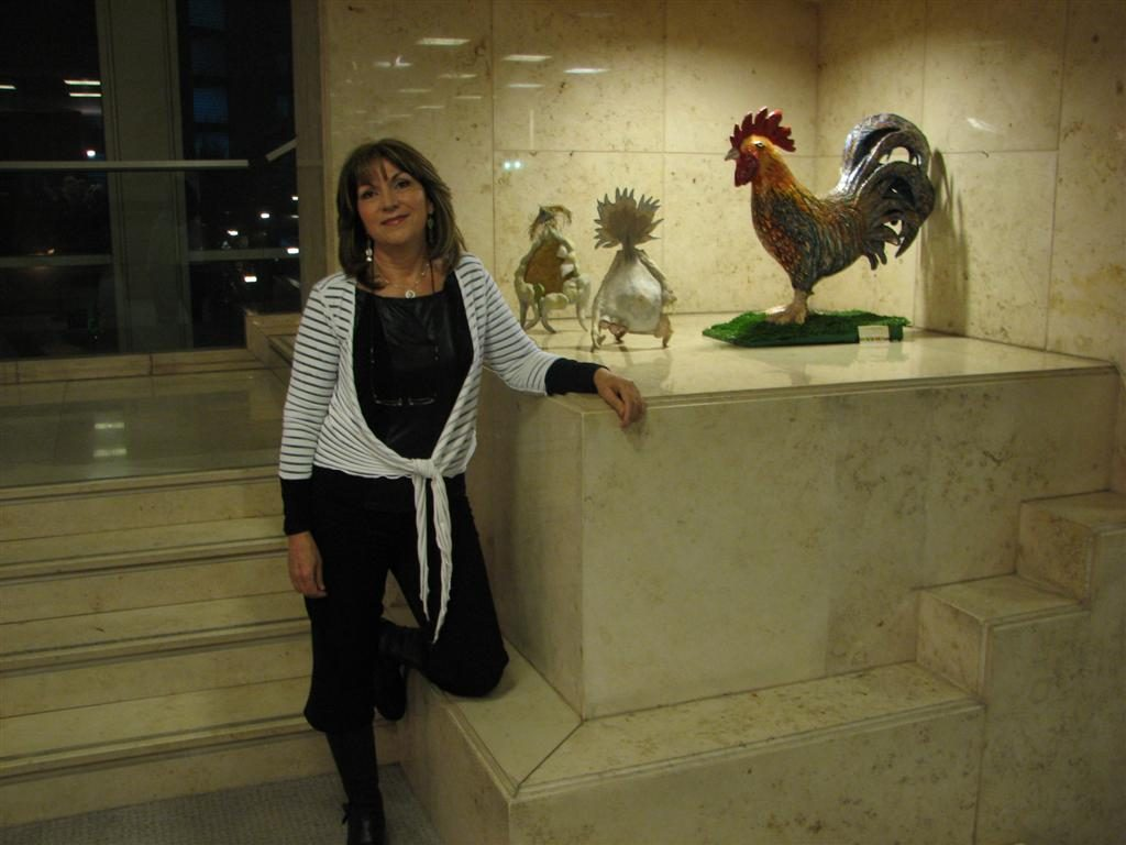 התרנגול הגבר שלי בתערוכת אקו ארט בראשון לציון