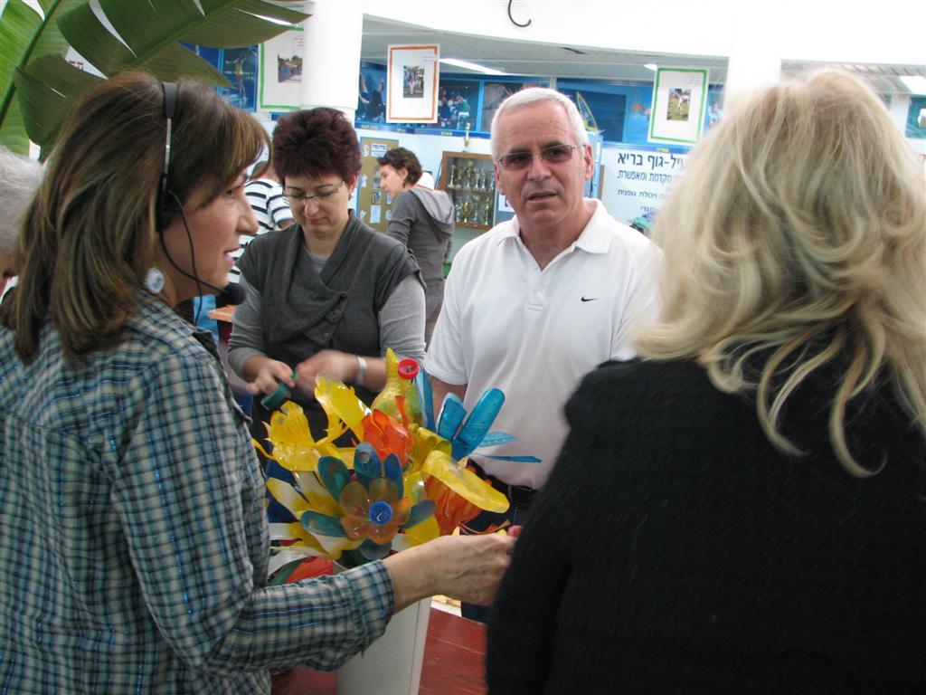 ראש העיר מגיע לבית הספר לפרגון לאומנות הירוקה