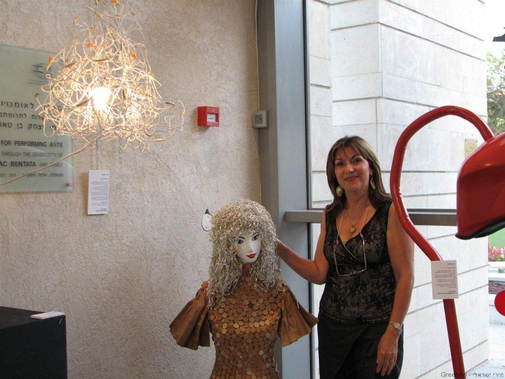 הברמנית הירוקה- בתערוכת איכות הסביבה ומיחזור- בשוהם