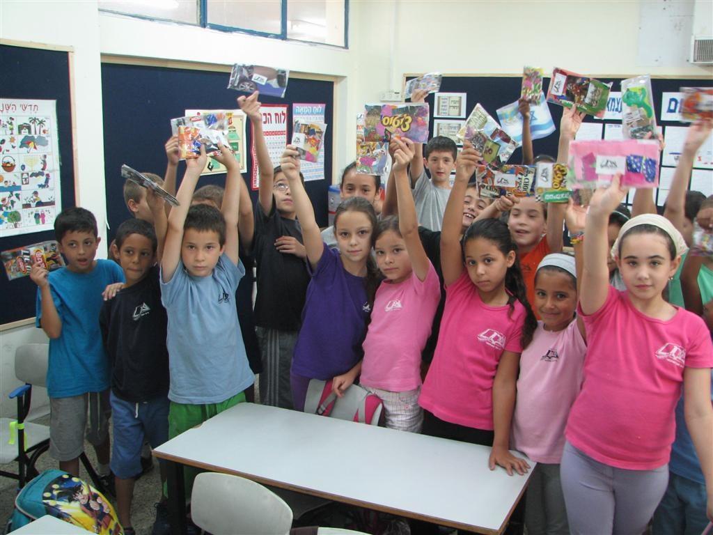סדנאות יצירה ירוקה בבית ספר ארן בתל אביב