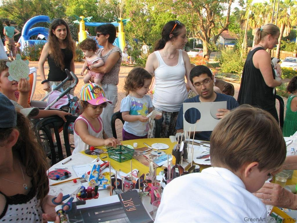 סדנאות יצירה אומנות ירוקה במושב כפר מונאש