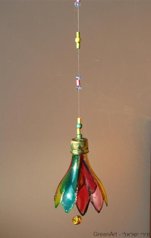 פעמון כקישוט לסוכה מבקבוק פלסטיק