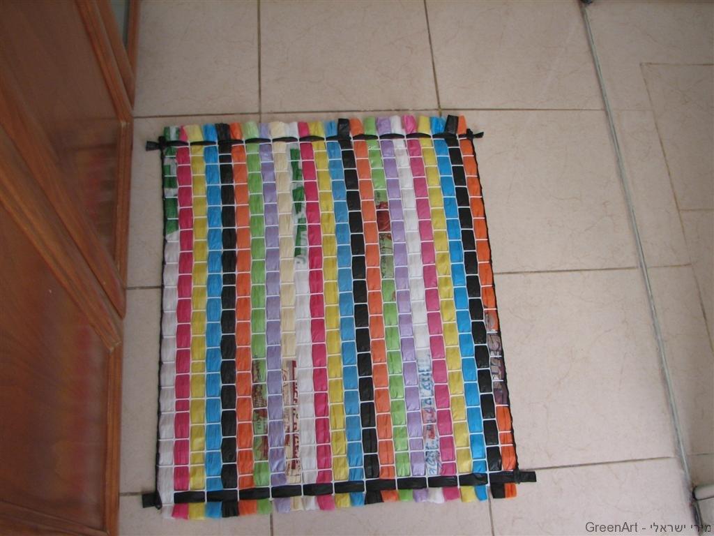 מחצלת צבעונית משקיות ניילון בשימוש חוזר
