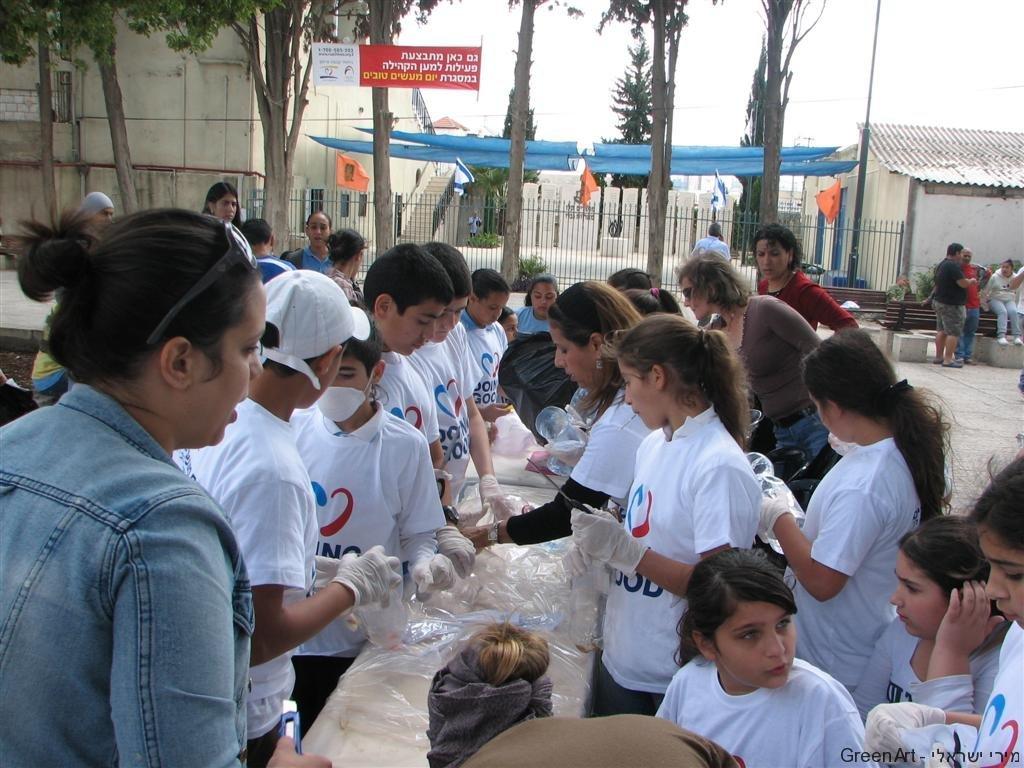 שיתוף פעולה שלתלמידים יהודים וערבים בעיר רמהל למען שמירת הסביבה