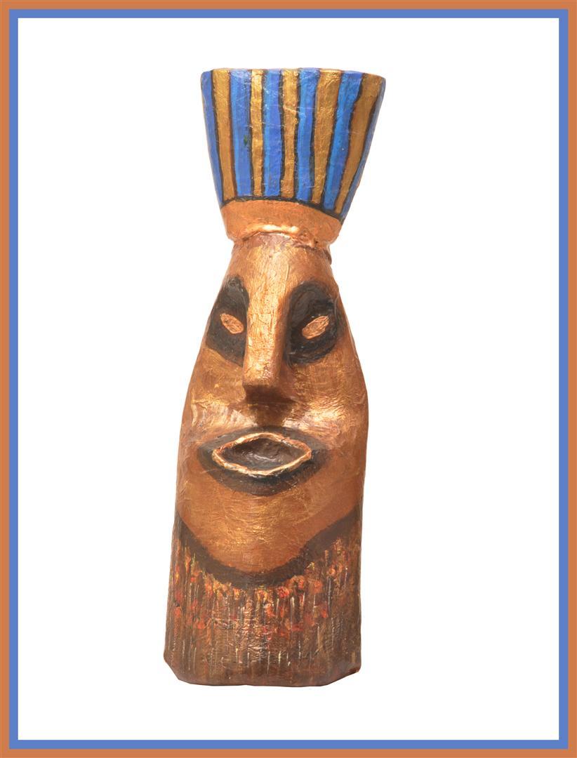בקבוק פלסטיק שהפך למסכה אפריקאית- אומנות אקולוגית