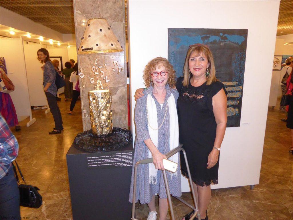 עם נאוה פורת אוצרת התערוכה הנהדרת - בין מילה לתמונה- אמני מוזה רעננה.