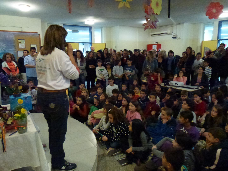 הרצאות העשרה לתלמידים והורים בבית הספר רבין בשוהם לקידום החינוך הסביבתי
