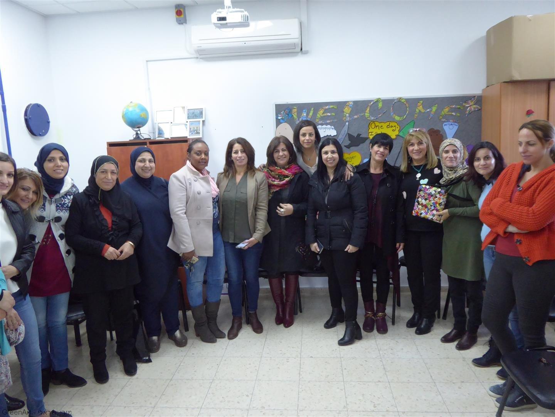 הסגל החינוכי של בית הספר ג'ובראן חליל ג'ובראן במפגש העשרה לאמנות וסביבה