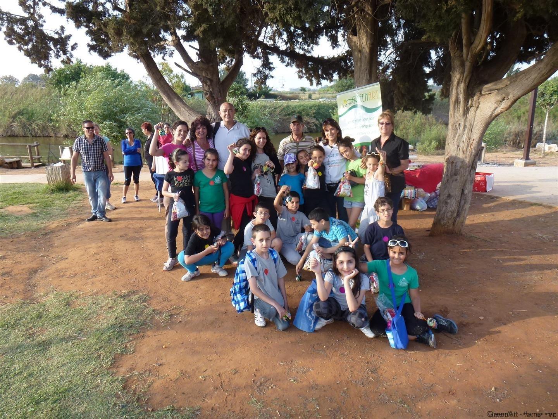 יום ירוק בנחל אלכסנדר למודעות סביבתית בדרך יצירתית
