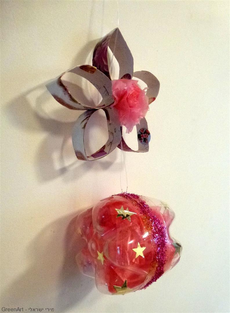 מובייל פרח מגלילי קרטון אריזות ושקיות ניילון
