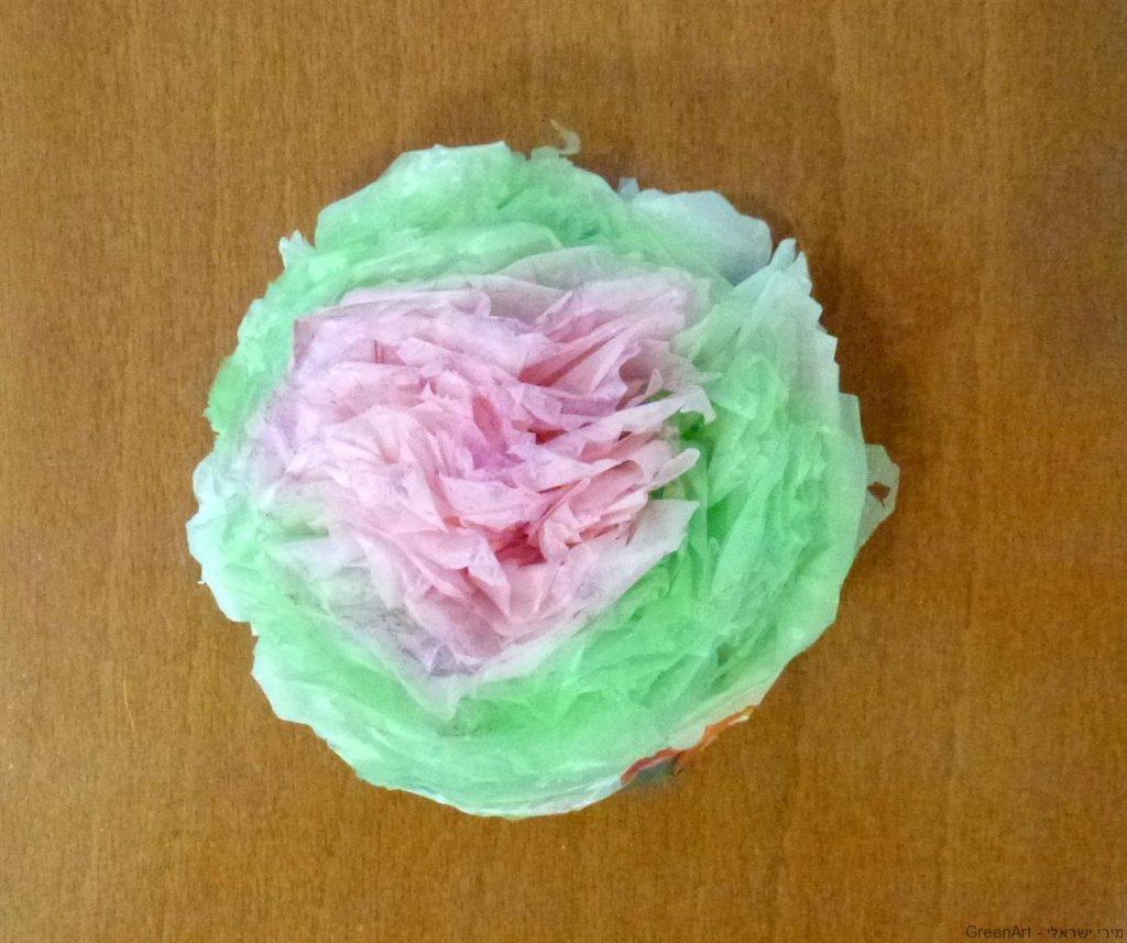 פרח לקישוט ועיטור משקיות ניילון בשימוש חוזר