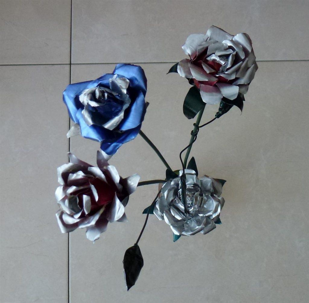 פרחים מרהיבים מפסולת בתי נר וקפסולות קפה eco art-