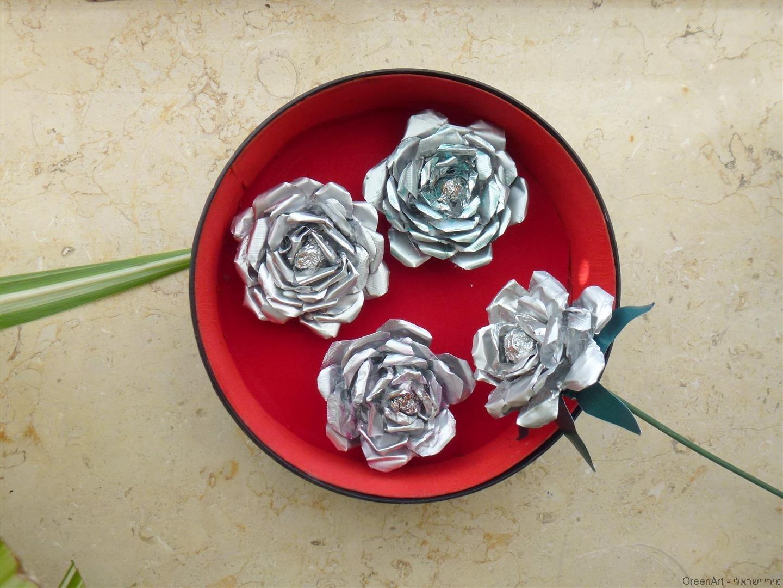 ורדים מעוצבים מפסולת בתי נרות אלומיניום