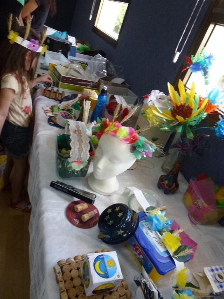 רשמים מסדת יצירה ירוקה להכנת טנא וזר לחג השבועות