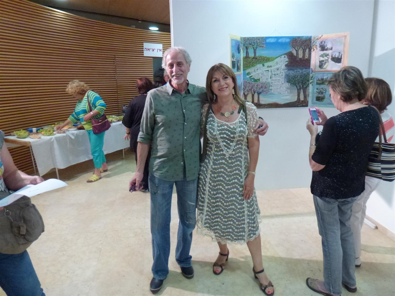 אני ורפי בלר באירוע הפתיחה לתערוכת אמני רעננה על המפה