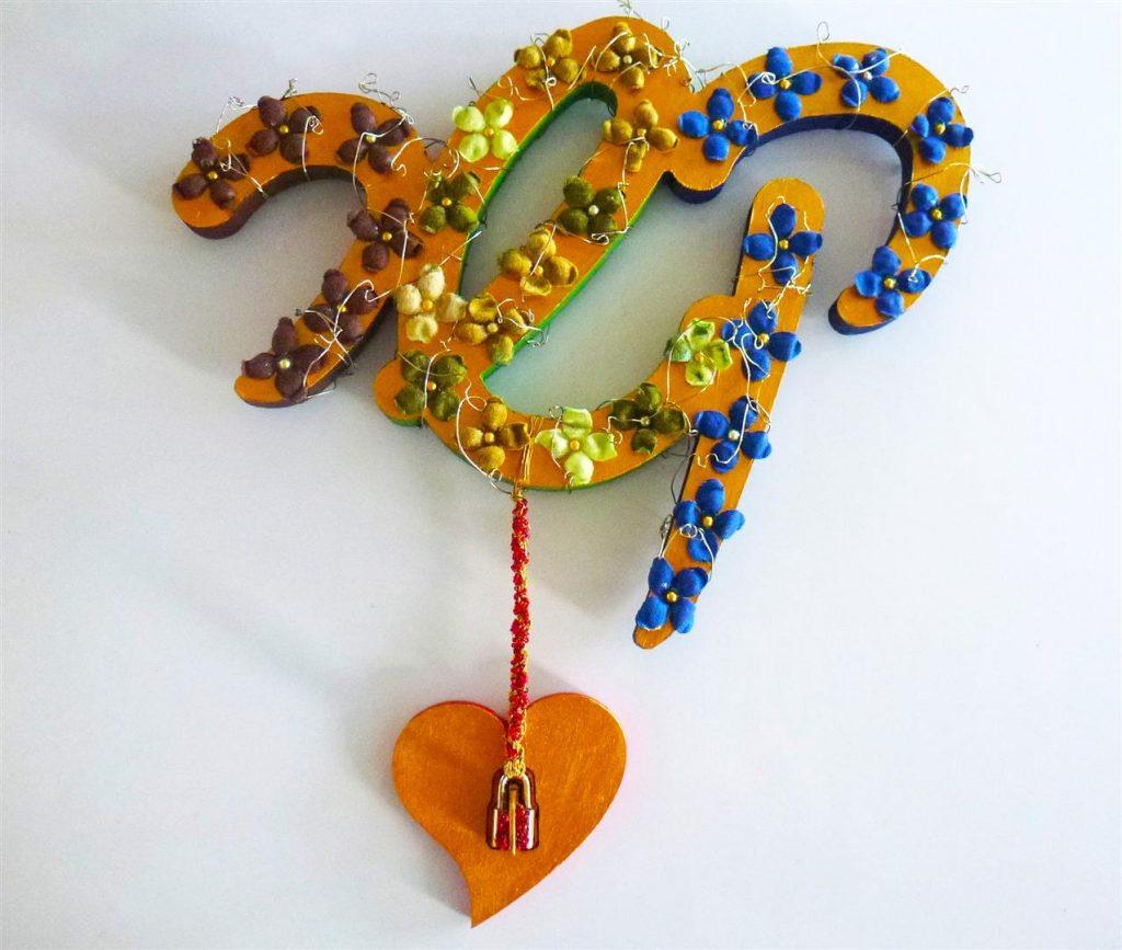 היצירה שלי - לפתוח את  מנעול הלב- מעוצבת מחומרים בשימוש חוזר