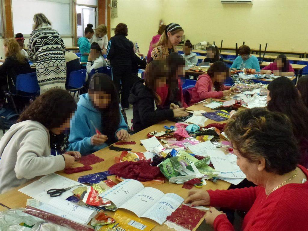 סדנת יצירה ירוקה למען הקהילה בטו בשבט בנווה שרה הרצוג