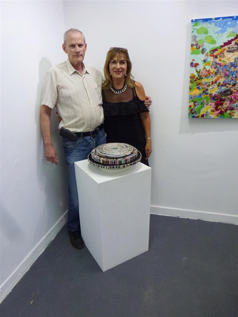 עם האומן דוד גומא חברי ממוזה רעננה