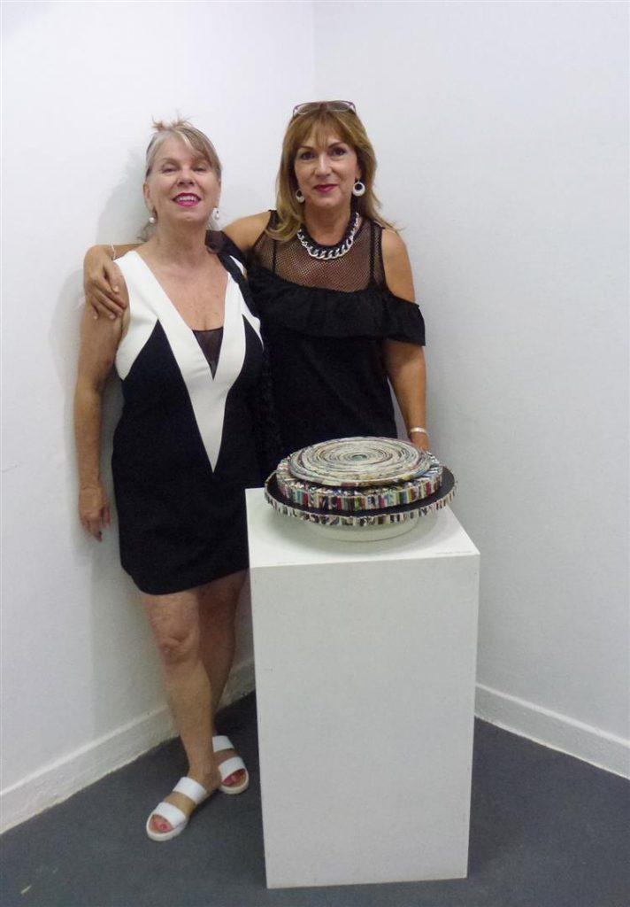 עם האמנית שולי בריסקין חברתי מאמני מוזה רעננה