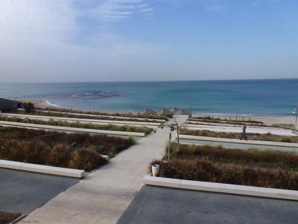 מבט מפארק השלום היורד לחוף יפו ממרכז פרס לשלום