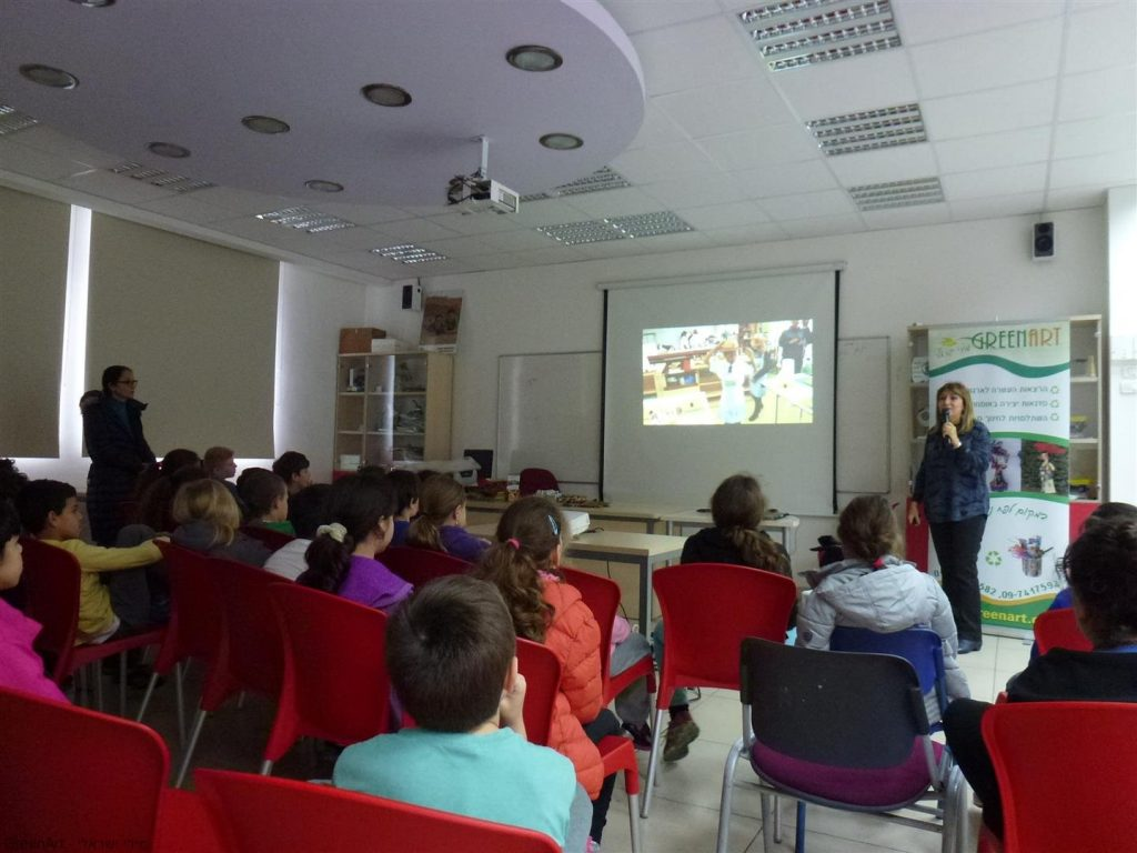 תלמידי הגפן רמת גן במפגשי הרצאות העשרה חינוכית סביבתית - כיצד להחזיר אהבה לסביבה