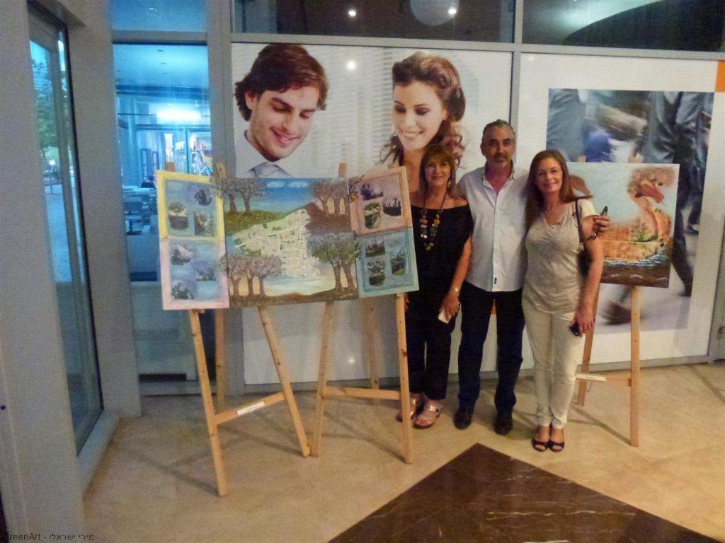 עם חבר מועצת העיר חיים ברוידא ואנה פוזמנטיר