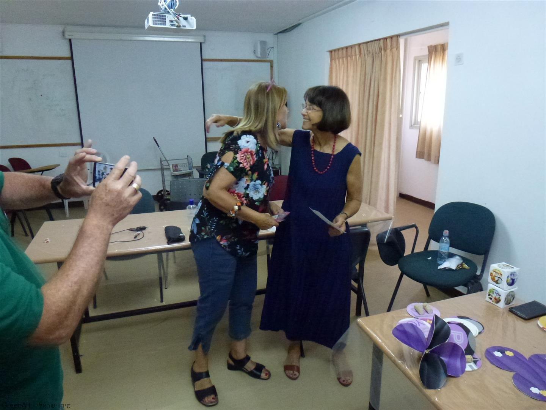 עם רותי המנהלת בסדנת היצירה למורים לקידום החינוך לקיימות