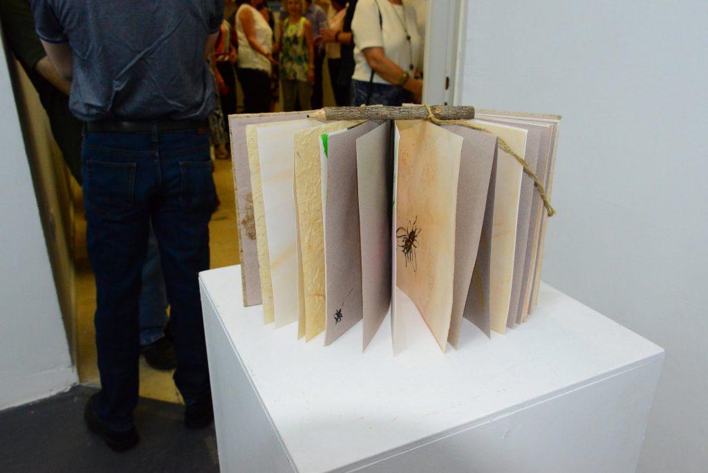 ספר מנייר אורז של האמנית אווה  גרובגלס
