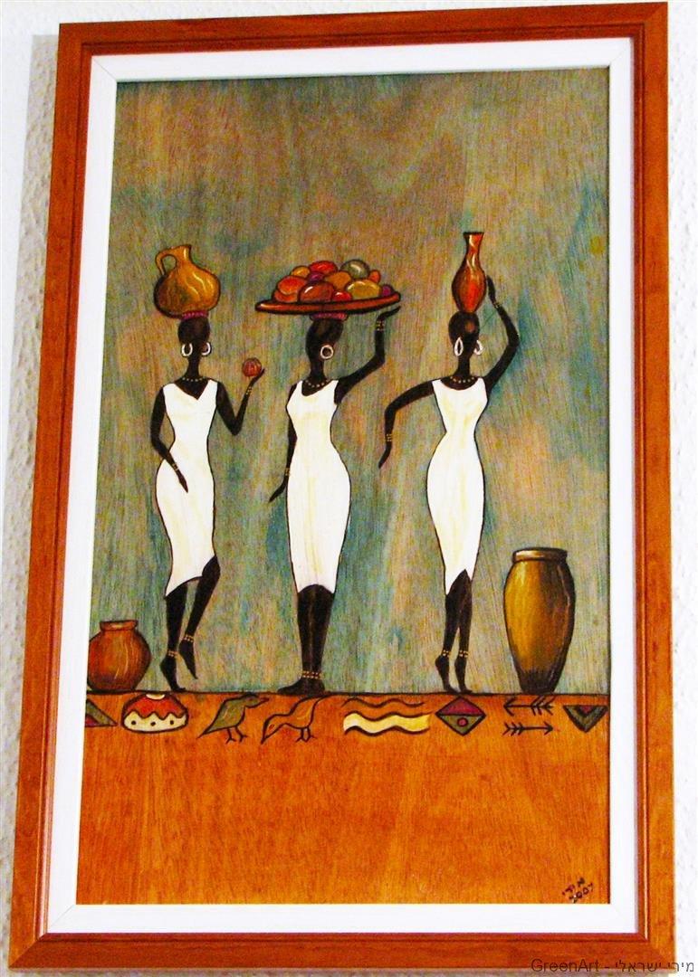 שאריות לוחות עץ לציור עם צבעי משי