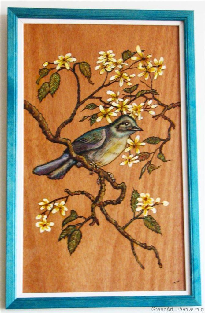 שימוש חוזר בדיקטים ישנים לציור וצריבה על העץ
