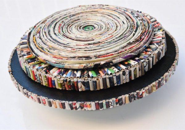 """הצגה בתערוכת """"ניירות""""  עם אמני """"מוזה"""" רעננה – Eco Art."""